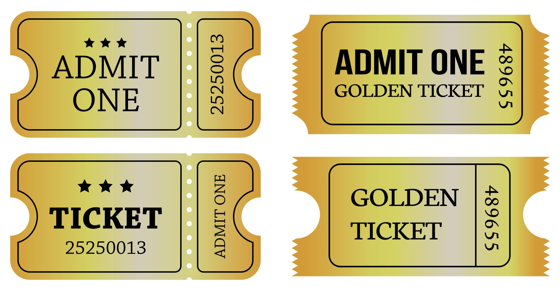 Printable Golden Ticket Template