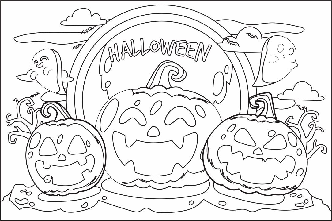8 Best Free Printable Halloween Coloring - Printablee.com