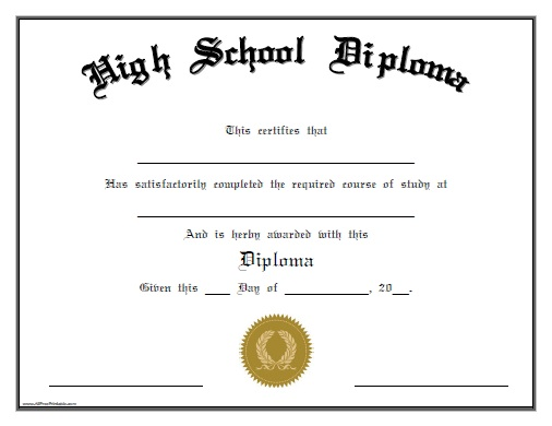 free fake high school diploma templates 6 best images of high school diploma printable fake high