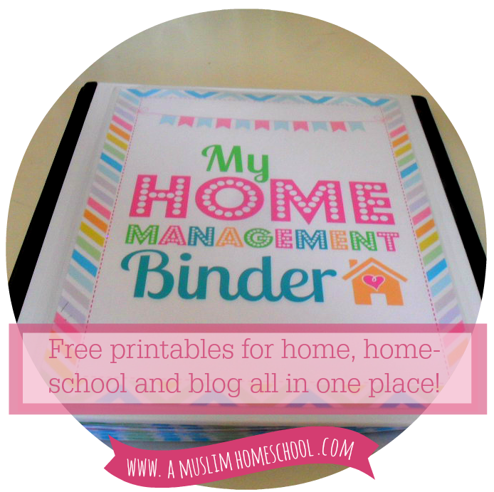 Free Printable Home Management Binder Cover