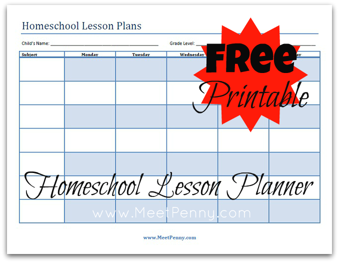 9 Images of Homeschool Lesson Planner Printable