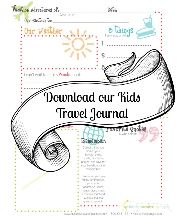 7 Images of My Vacation Journal Printable