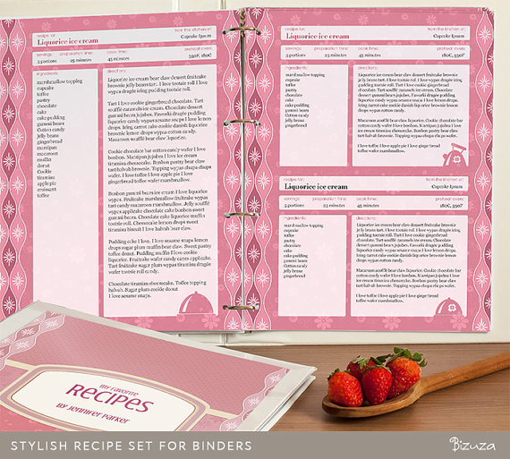 6 Images of Recipe Binder Printable Pages For