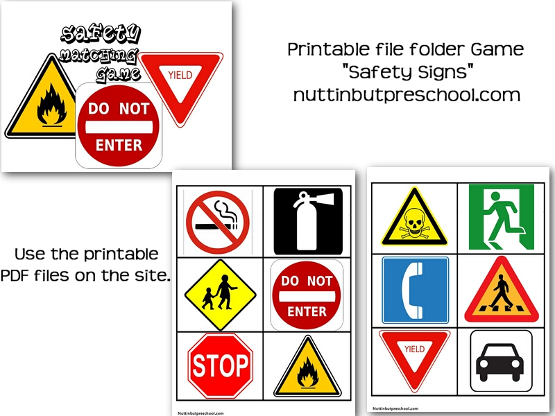 5 Images of Printable Safety Signs For Preschoolers