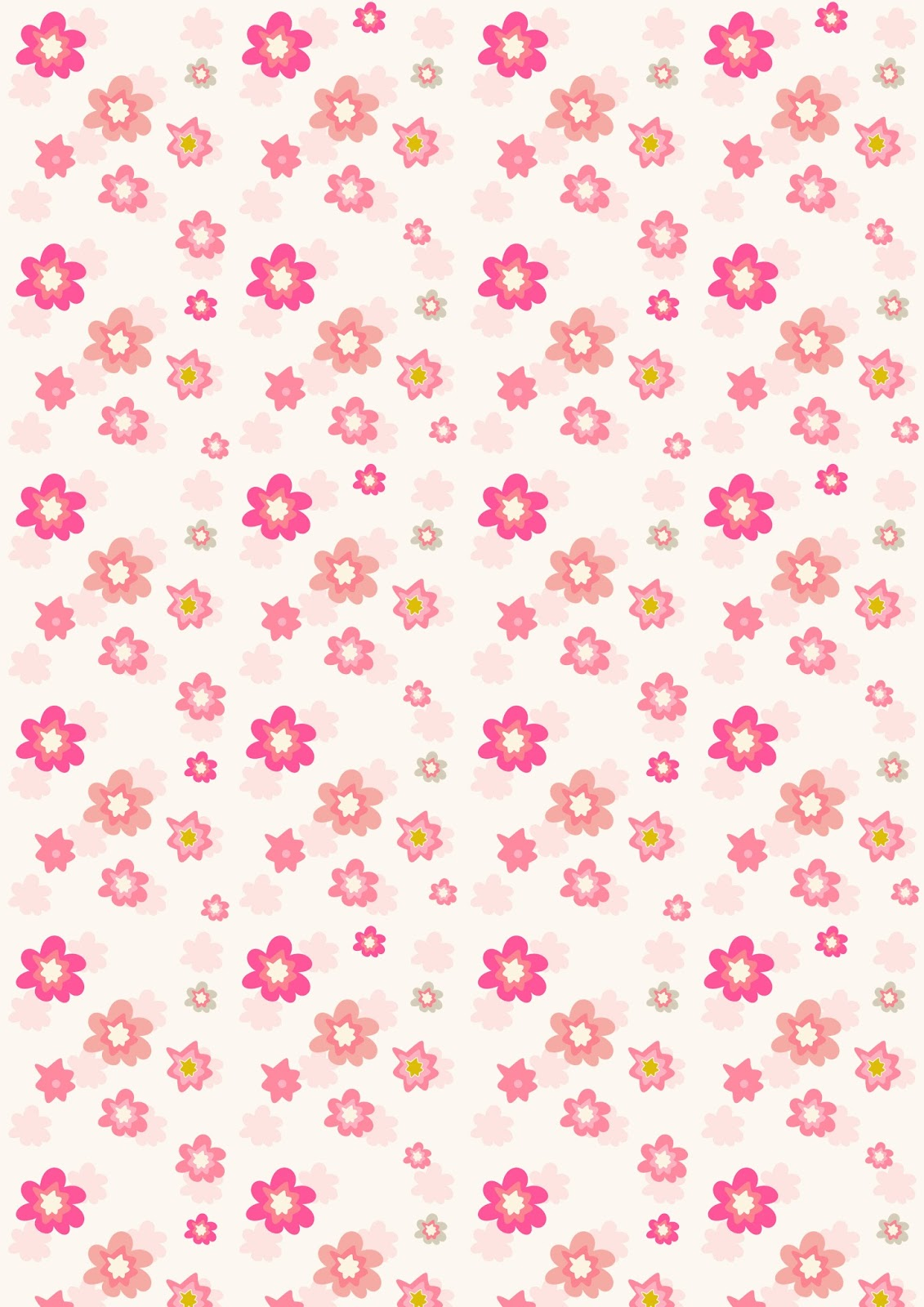 8 Images of Free Printable Floral Paper