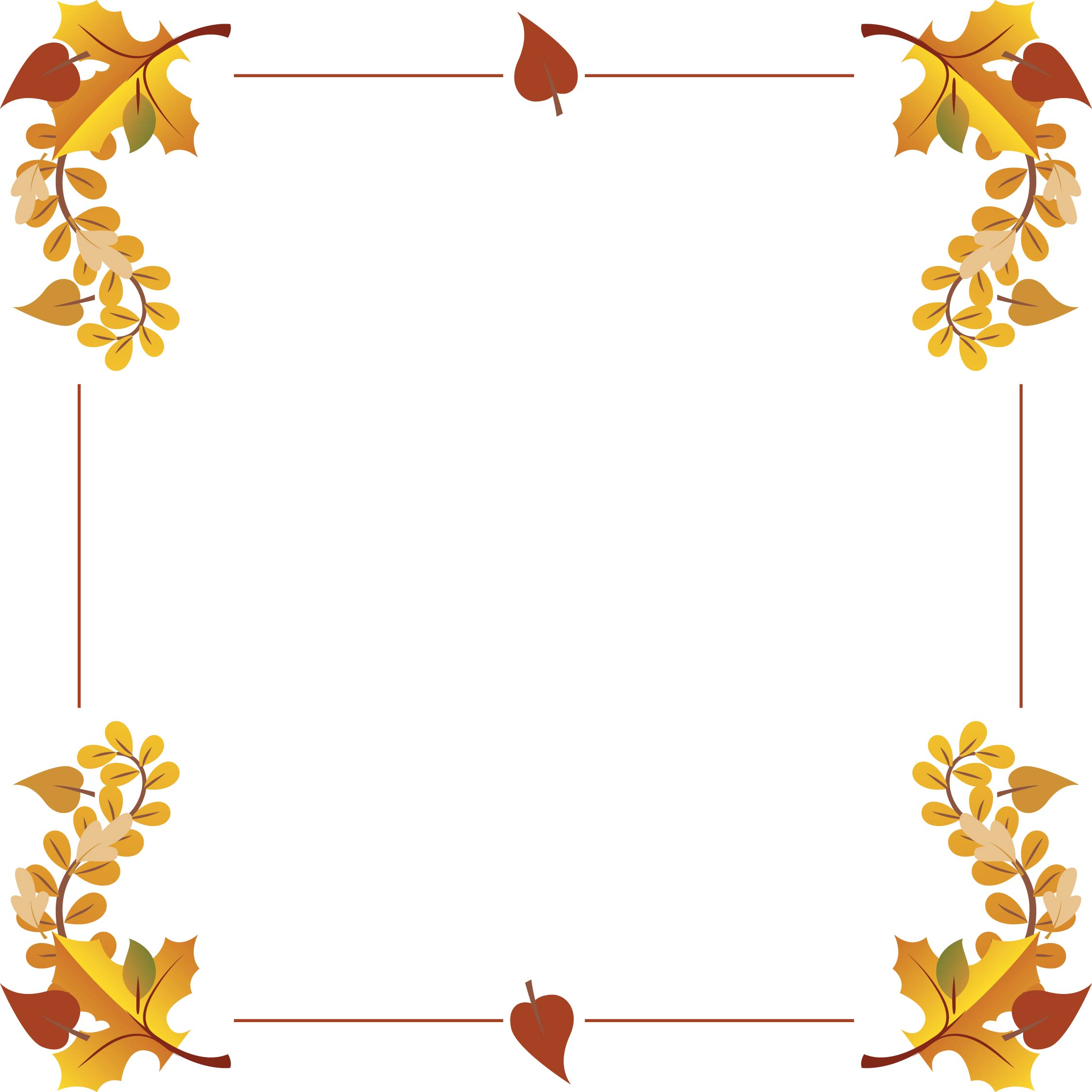 Printable Thanksgiving Clip Art Borders