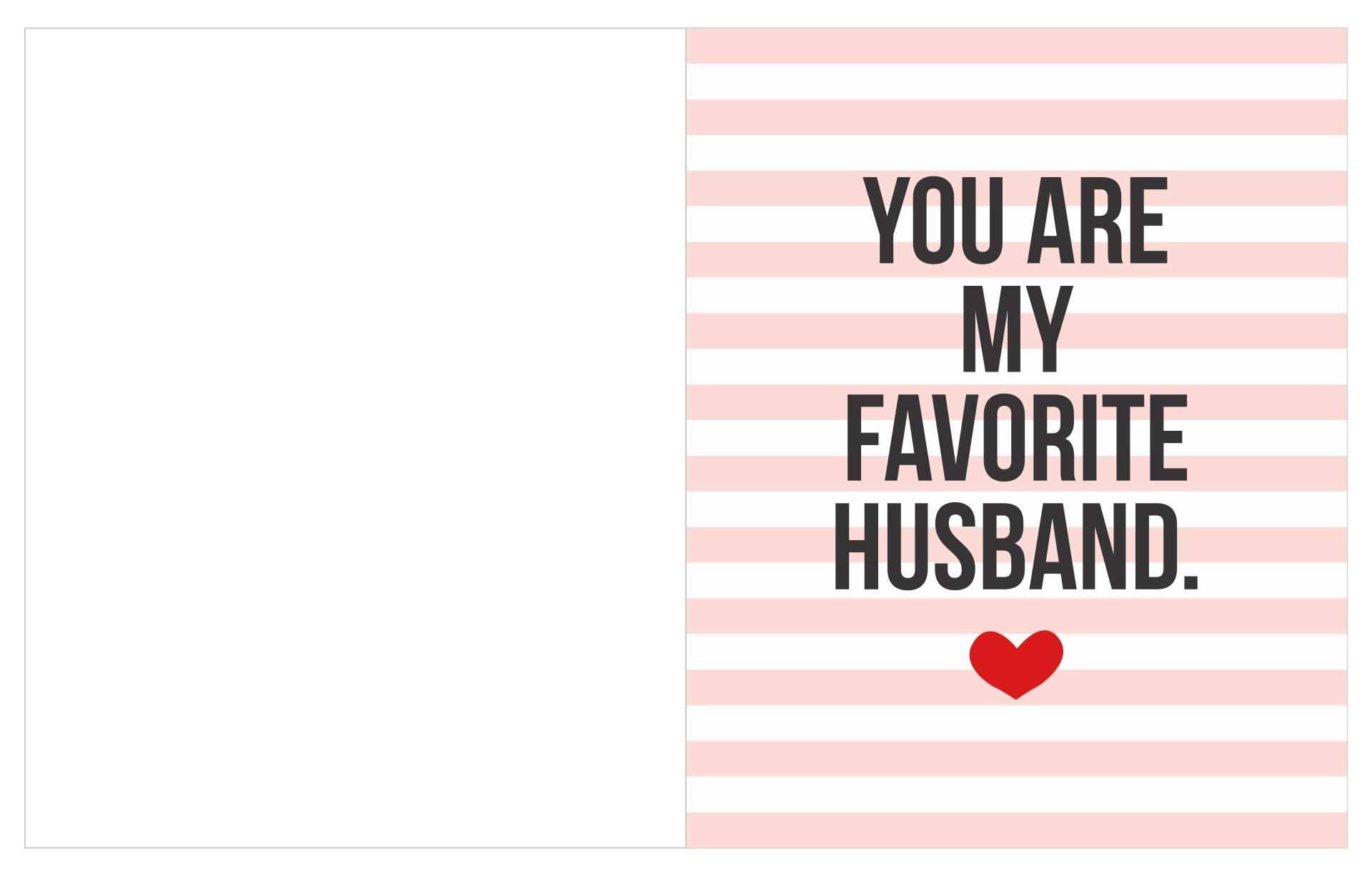 Printable Valentine Day Card for Husband