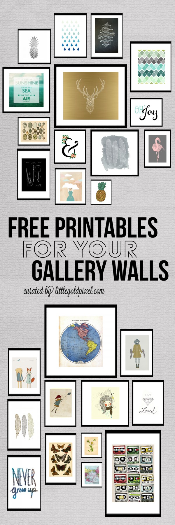 7 Images of Silver Gallery Wall Free Printables