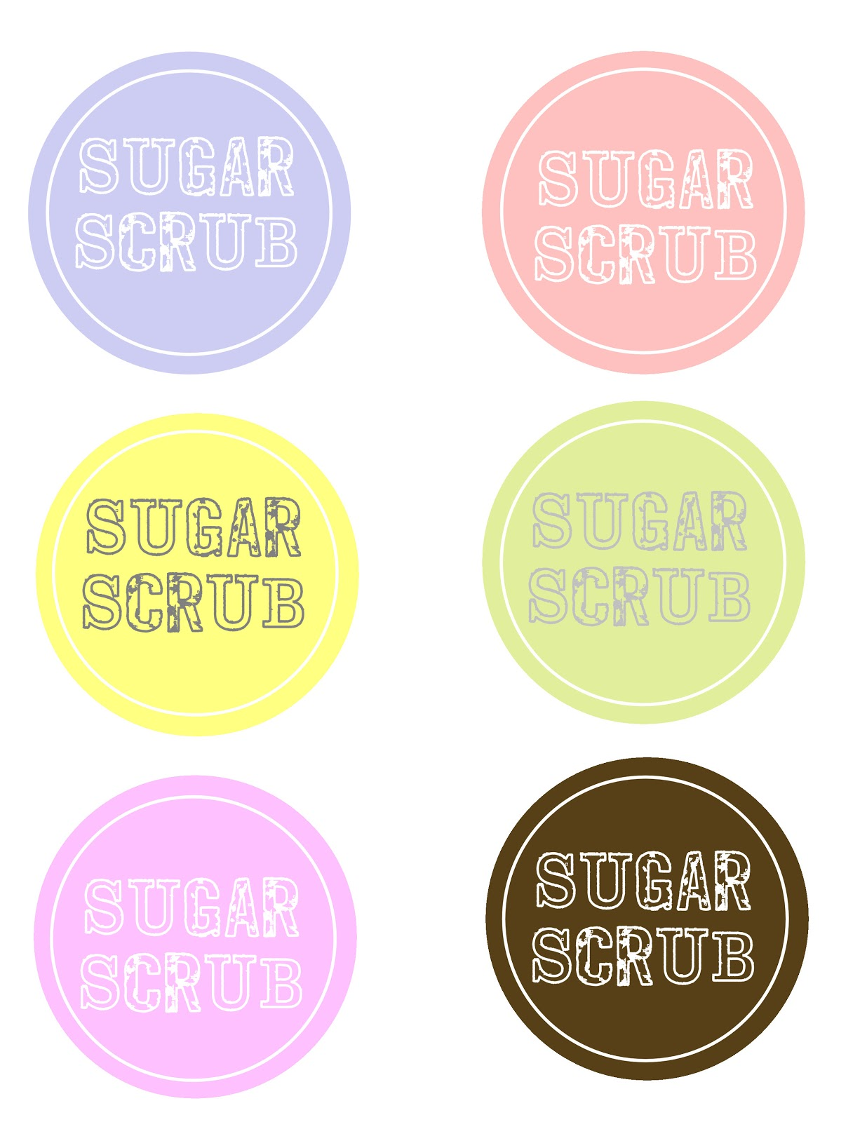 5 Images of Sugar Scrub Jar Label Printables
