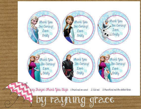 7 Images of Disney Frozen Printables Thank You Tags