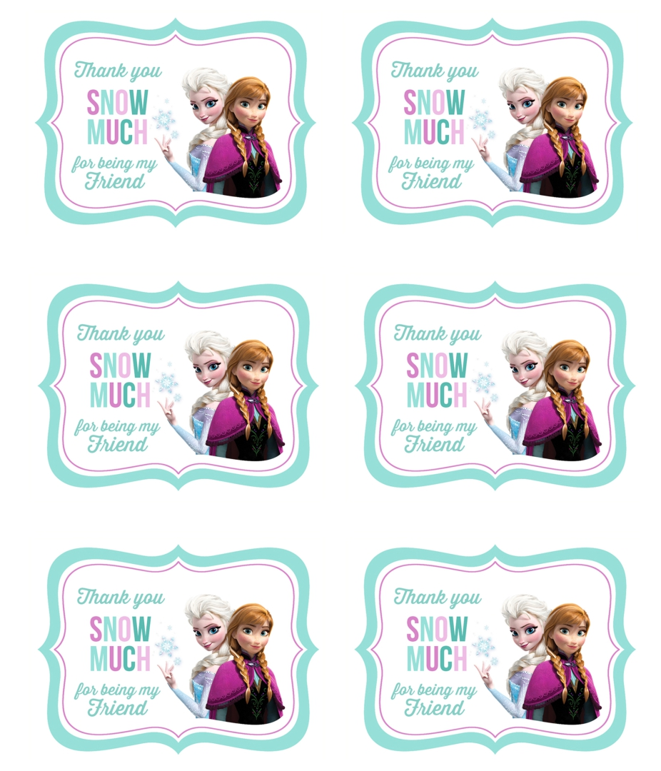 Frozen Gift Tags Free