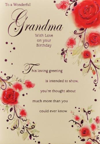 4 best images of happy birthday grandma cards printable for What to get grandma for her birthday