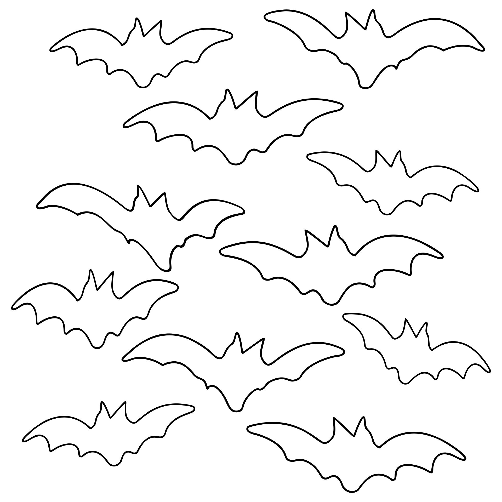 Halloween Bats Coloring Pages Printable