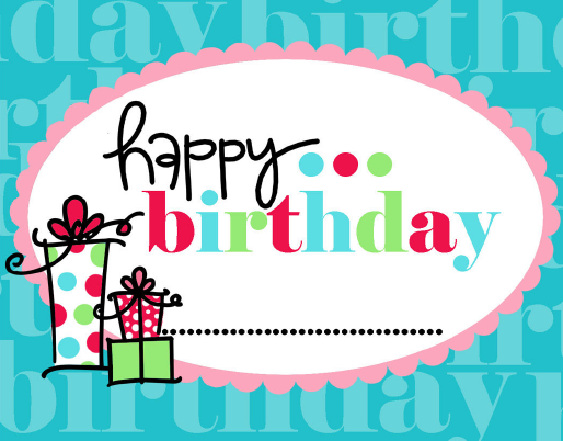 4 Images of Free Printable Happy Birthday Stickers