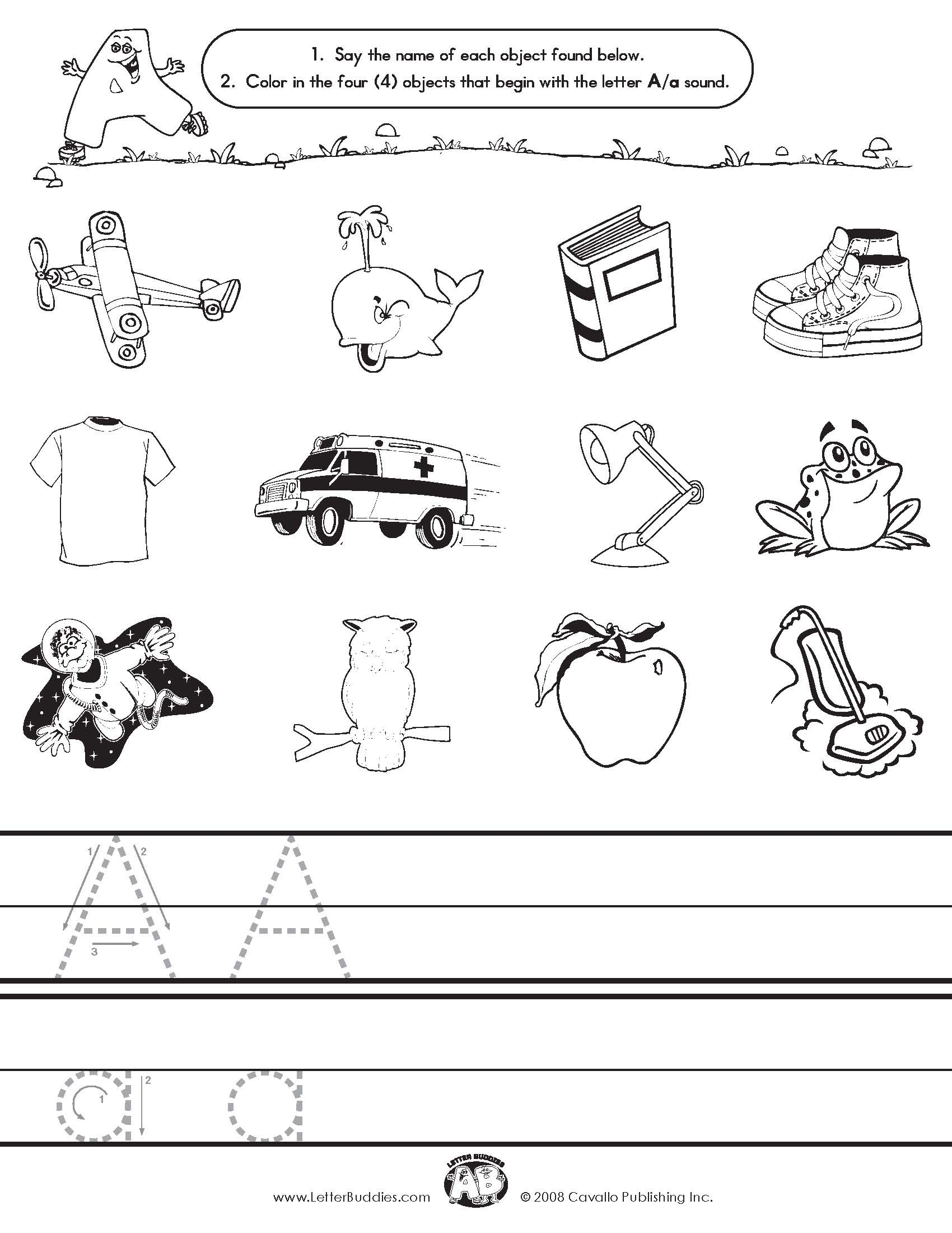 Printables Letter A Worksheets free letter a worksheets davezan sound scalien