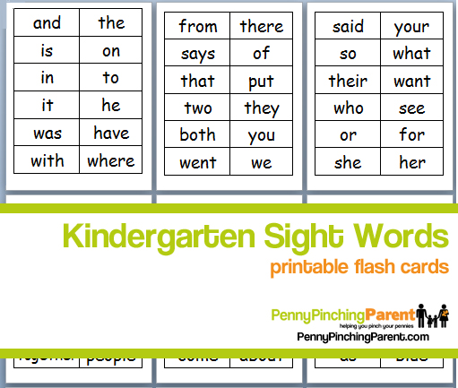 Free Printable Sight Words For Kindergarten Scalien – Free Worksheets for Kindergarten Sight Words