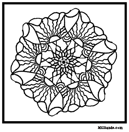 Mandala Art Coloring Pages