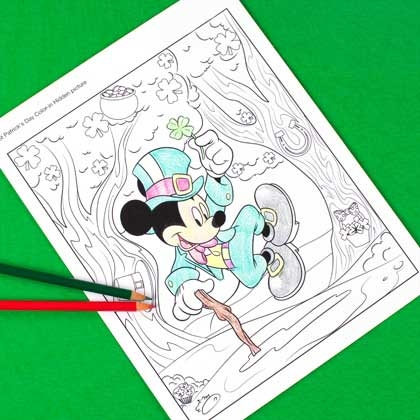 Mickey Mouse St. Patrick's Day Coloring Pages