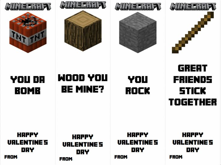 Craft printable images gallery category page 2 for Minecraft bookmark template