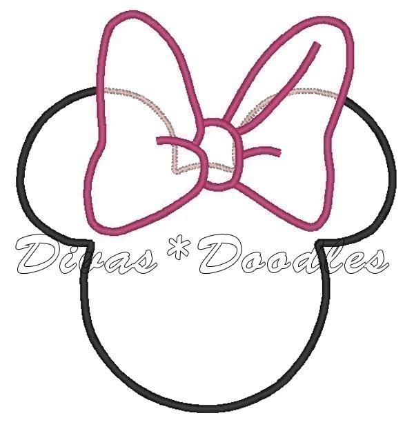 free printable minnie mouse bow template - 6 best images of minnie mouse printable template letter