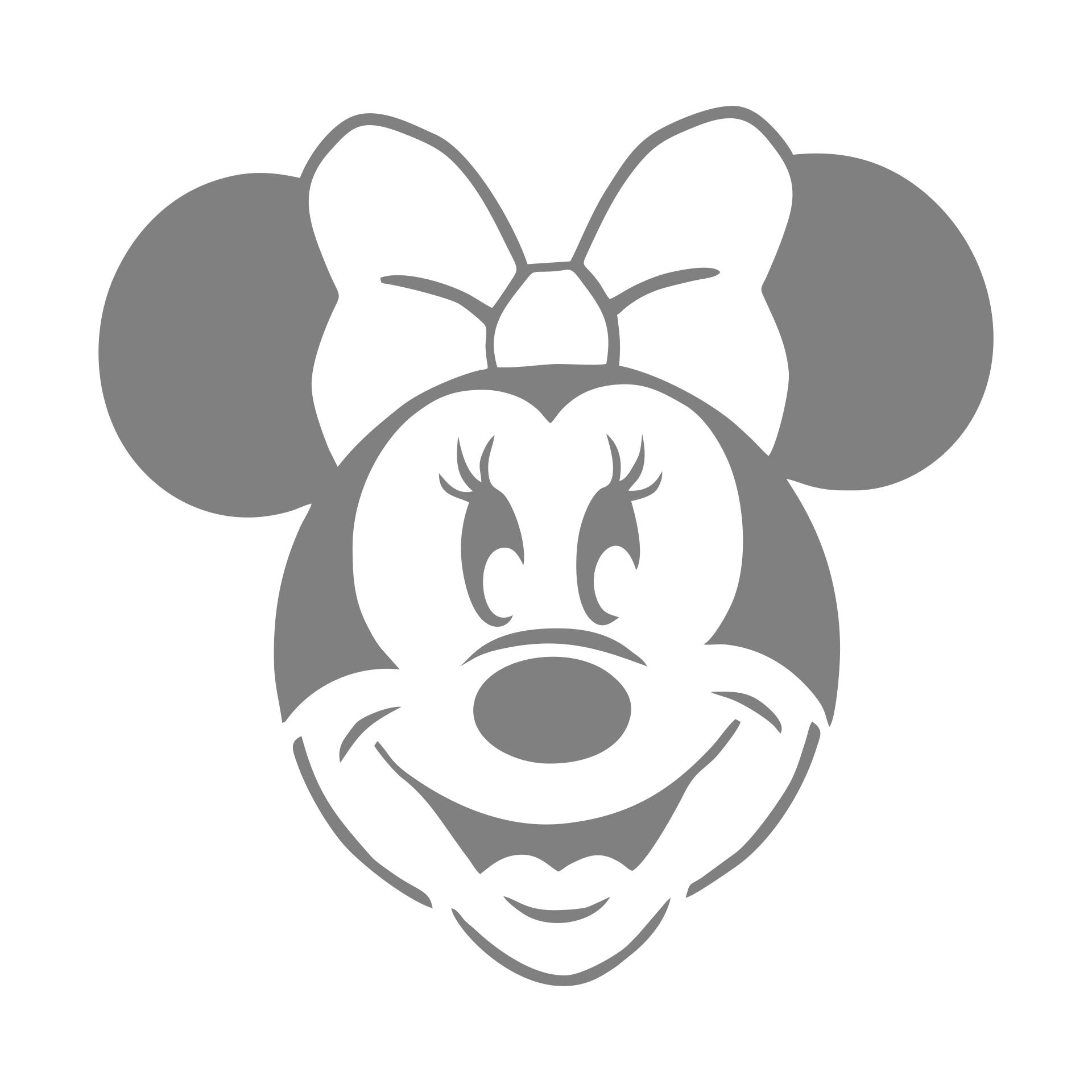 Minnie Mouse Pumpkin Stencil