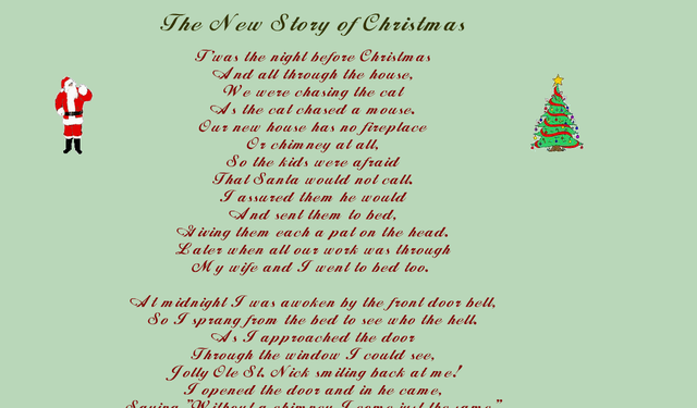 Before Christmas Story Printable Twas Night Before Christmas Poem ...