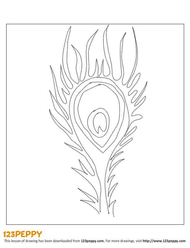 Peacock Feather Template Printable 7 best images of peacock feather ... Peacock Pattern Outline