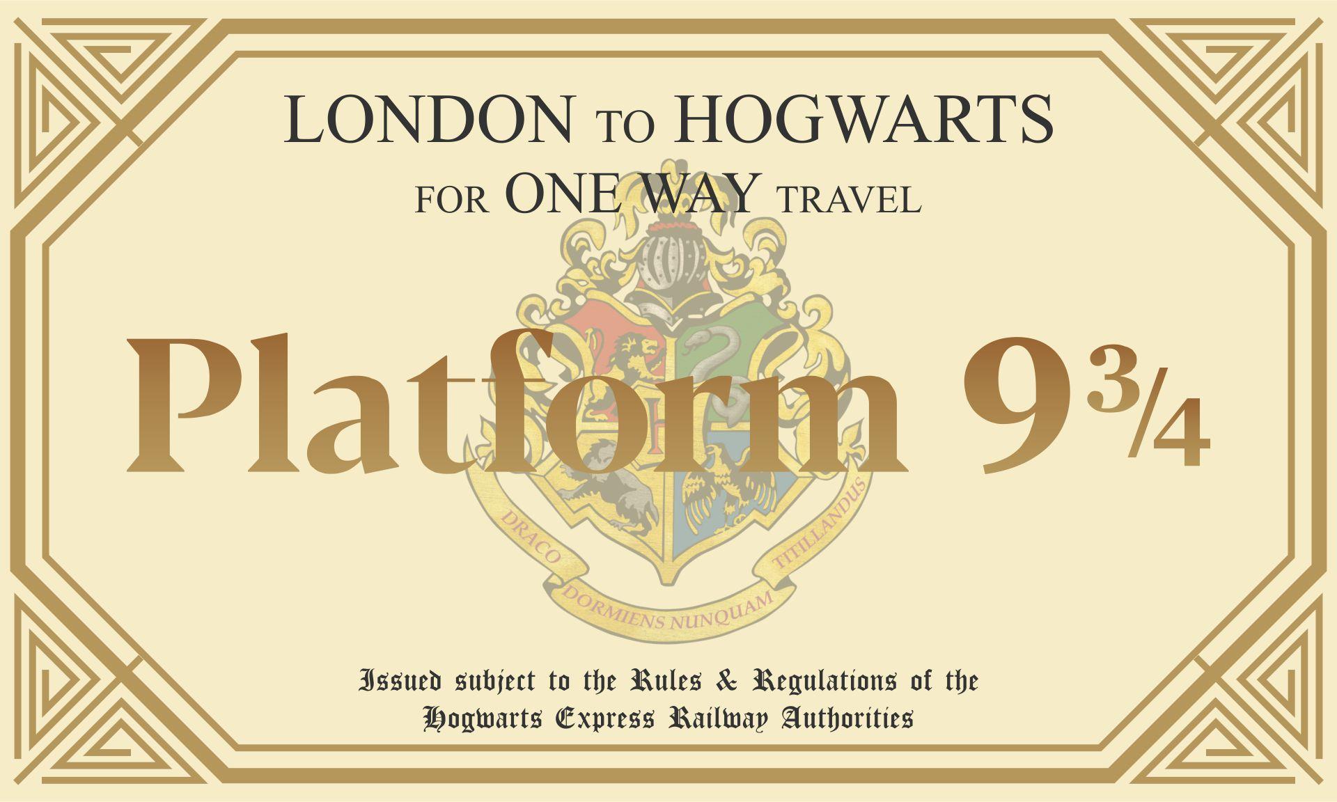 Platform 9 3 4 Hogwarts Acceptance Letter