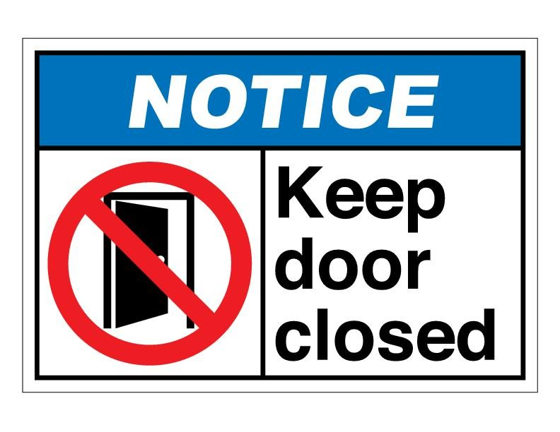Adorable image inside keep door closed sign printable