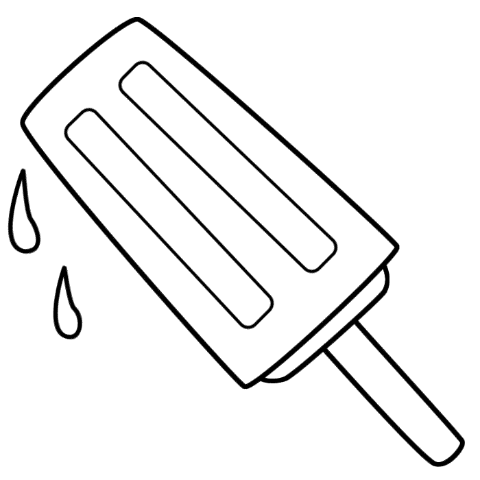 5 Images of Popsicle Black And White Printables