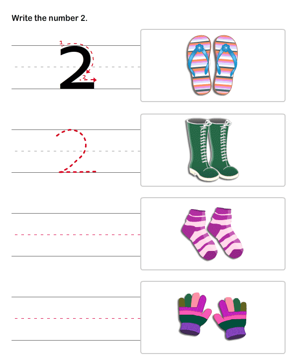 4 Images of Pre-K Number Worksheets Printable