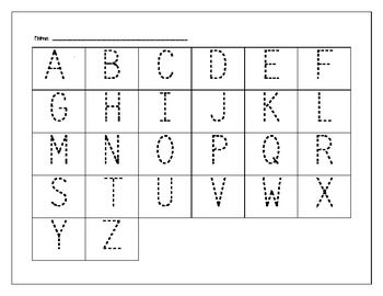 Alphabet Worksheets For Pre Kindergarten - Worksheets