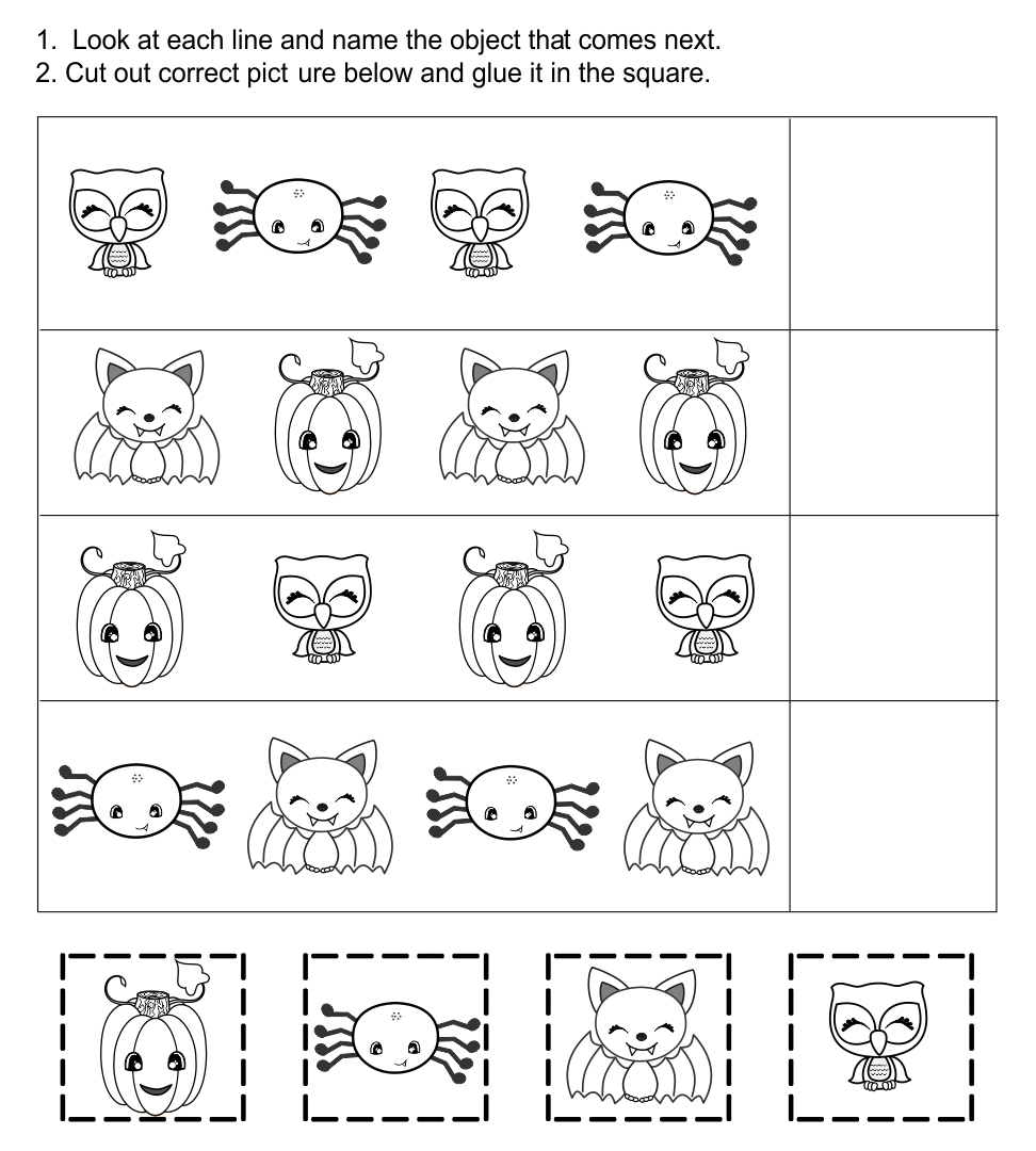 All Worksheets Kindergarten Halloween Worksheets Printable – Halloween Worksheets for Kindergarten