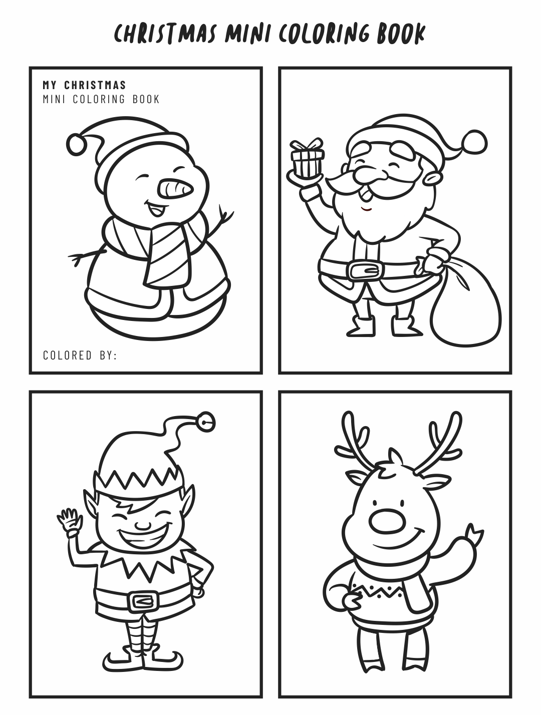 7 Best Images Of Free Printable Christmas Coloring Book