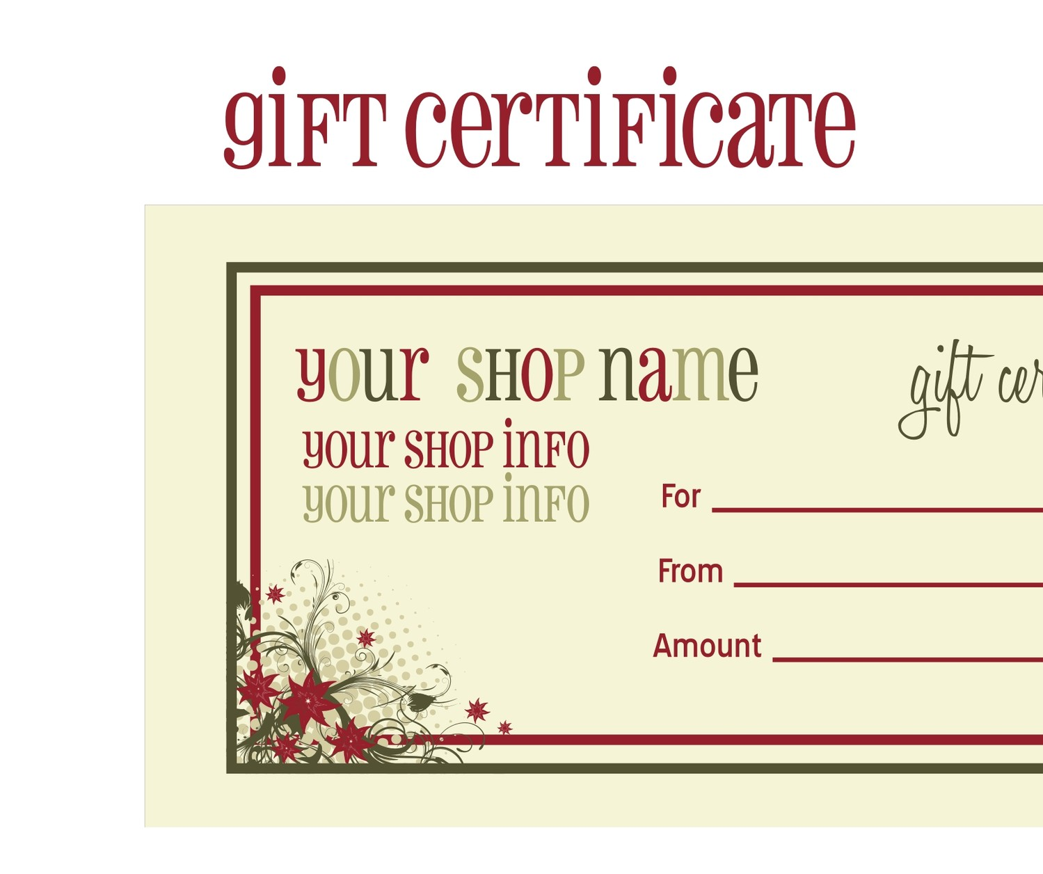 6 Images of Free Christmas Printable Gift Certificates
