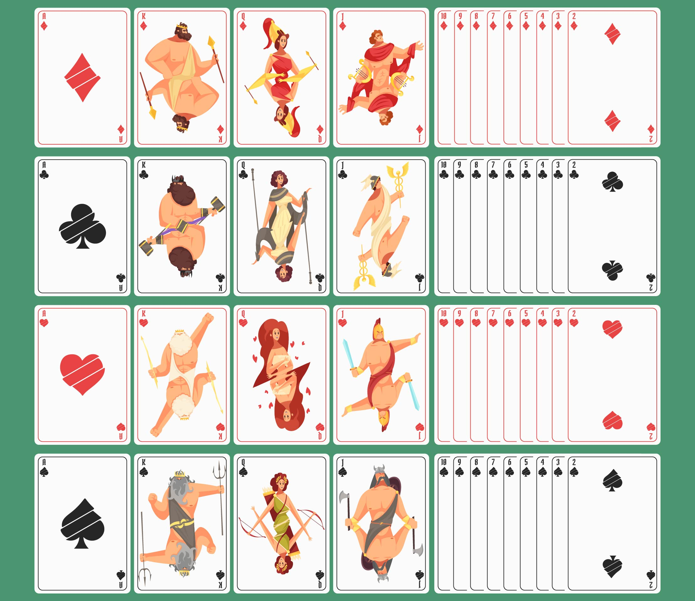 4 Images of Set Of Playing Cards Printable