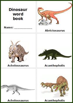 6 Images of Printable Dinosaur Books For Kindergarten