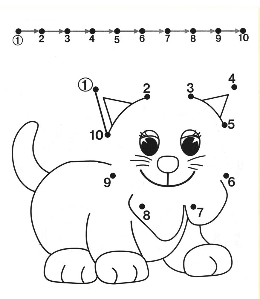 Connecting Dots Worksheets For Preschoolers