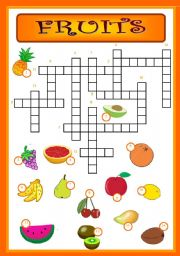 4 Images of Printable Crossword Puzzle Fruit