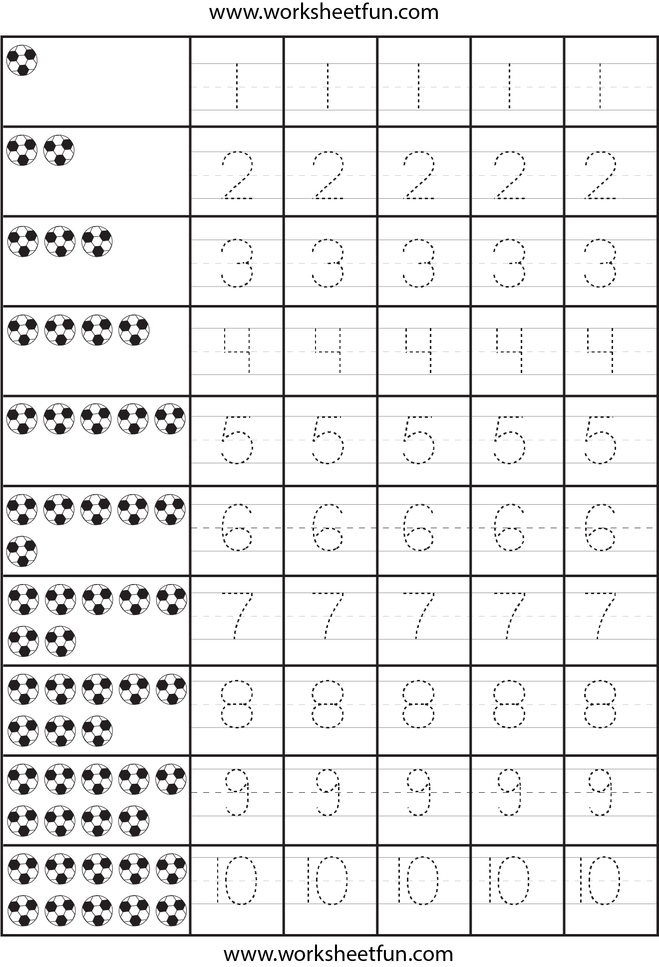 Writing Numbers 1 10 Worksheets Kindergarten Deployday – Number Tracing Worksheets 1-10