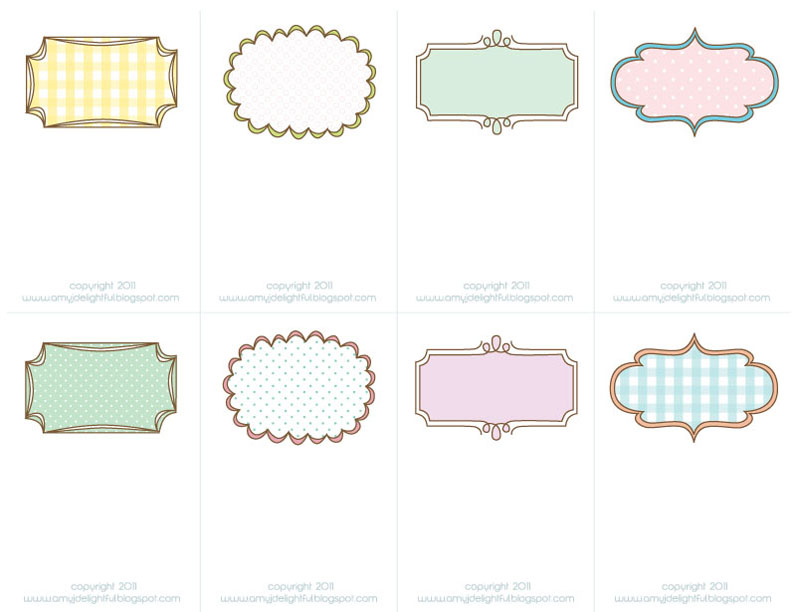 6 Images of Printable Note Tags