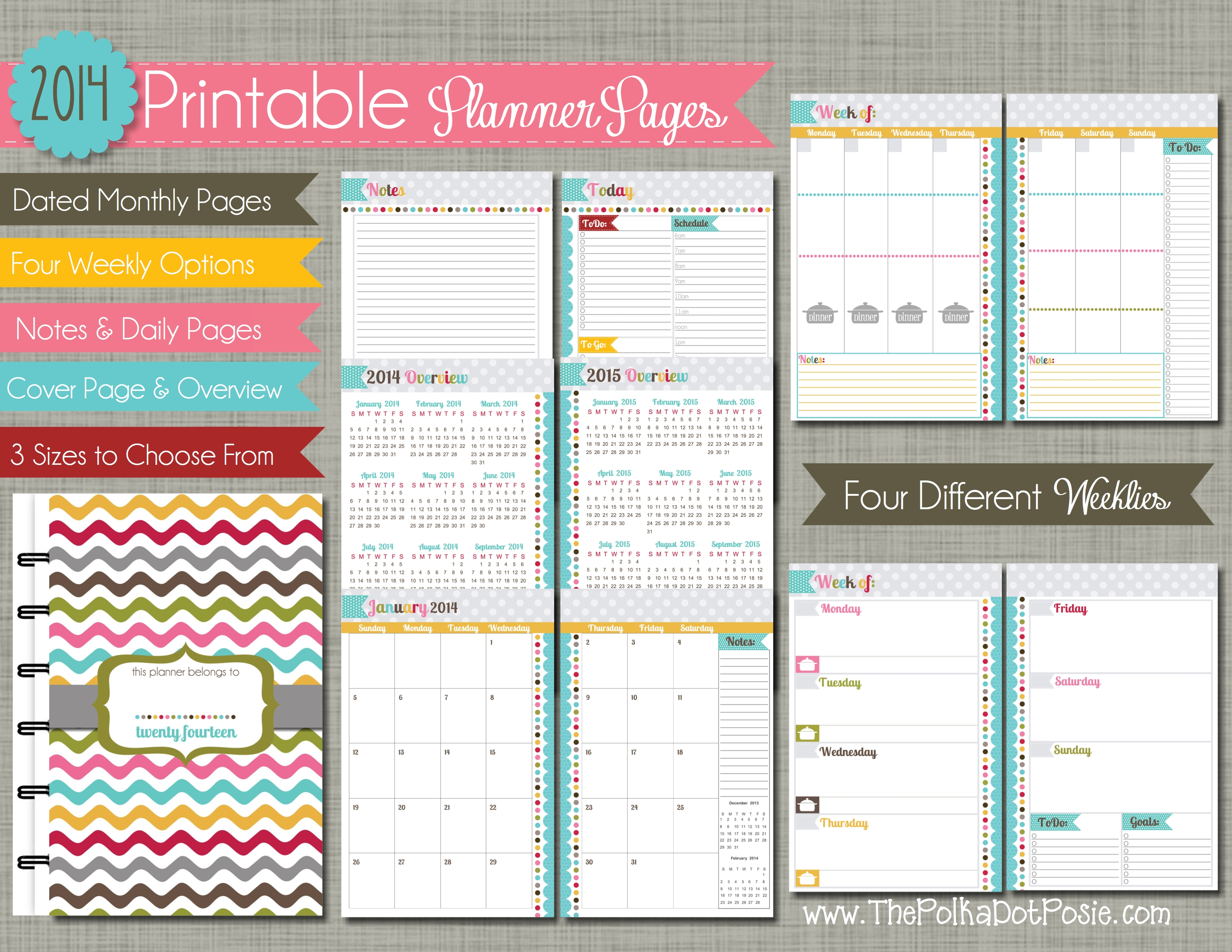 Calendar Planner Notebook : Best images of mini binder planner printables disney