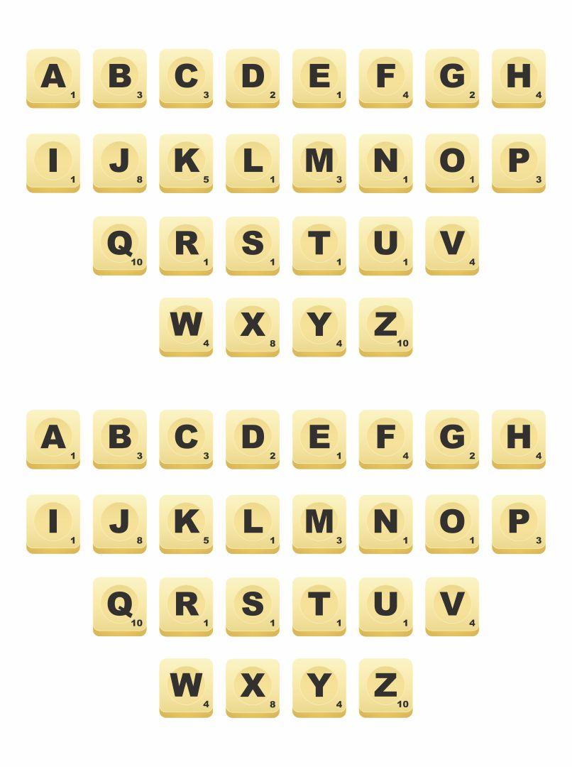 Printable Scrabble Letters