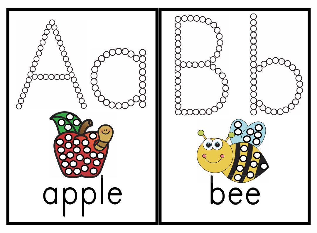 Q-Tip Painting Printables Alphabet
