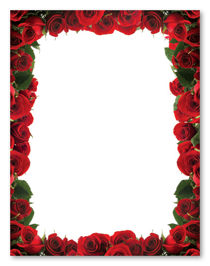 5 Images of Printable Rose Stationery Boarders