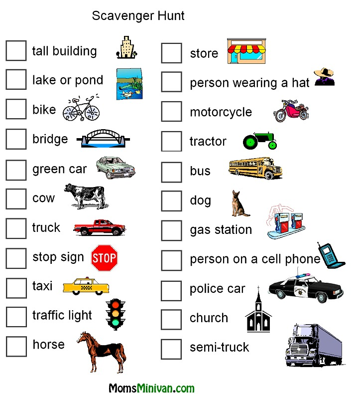 7 Images of Printable Car Activities