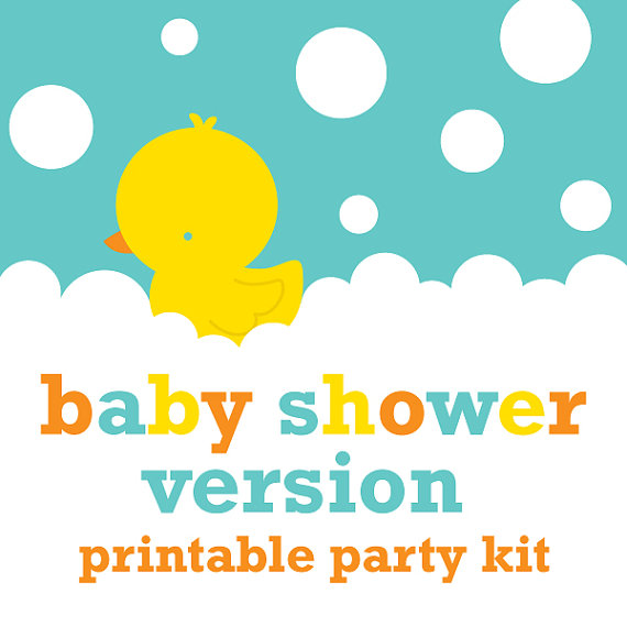 6 Images of Ducky Baby Shower Banner Free Printable