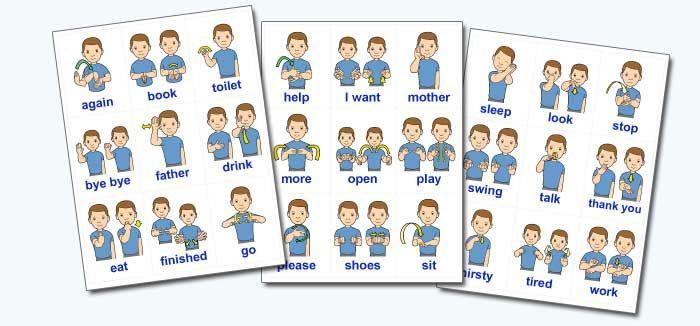 ... Sign Language Flash Cards Printable and Basic Baby Sign Language Words