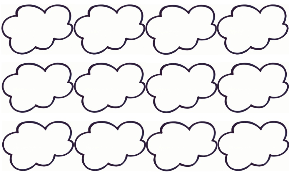6 best images of cloud template printable cloud cut out