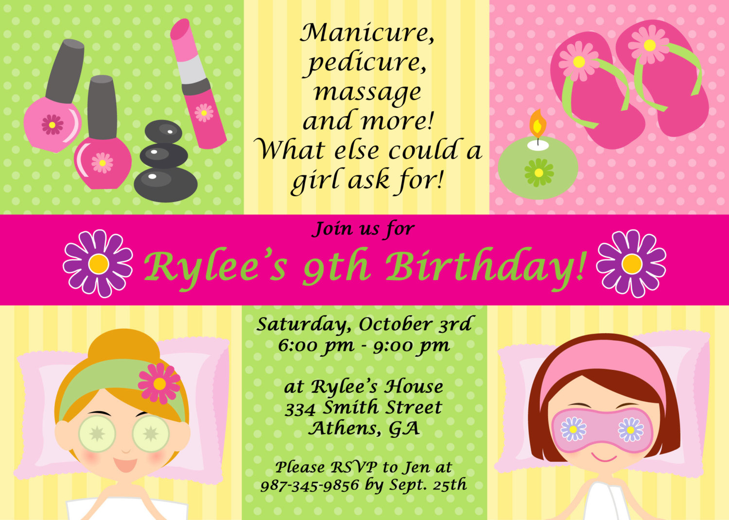 7 Best Images of Spa Party Invitation Printable - Free ...